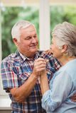Happy senior couple dancing Royalty Free Stock Images