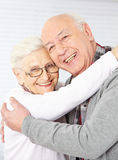 Happy senior couple embracing each Royalty Free Stock Images