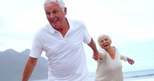 Happy senior couple having fun stock video