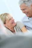 Happy senior couple laughing Royalty Free Stock Images