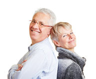 Happy senior couple leaning on each Royalty Free Stock Photography