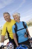 Happy Senior Couple Looking Away Stock Image