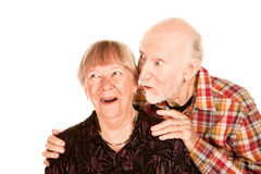 Happy senior couple looking left Stock Photography