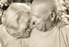 Happy senior couple in love Stock Photo
