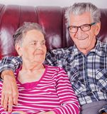 Happy senior couple in love at retirement Stock Image