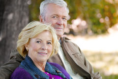 Happy senior couple outdoor Stock Image