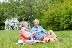 Happy senior couple outdoor Stock Photo