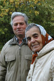 Happy senior couple in the park. Grandparents Stock Photography