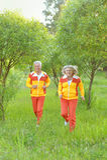 Happy senior couple in  park Royalty Free Stock Image