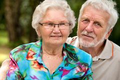 Happy Senior couple portrait Royalty Free Stock Photos