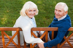 Happy senior couple. Stock Images