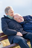 Happy senior couple relaxing together Royalty Free Stock Photography