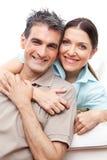 Happy senior couple smiling Royalty Free Stock Image