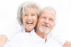 Happy senior couple Stock Images