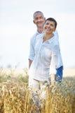 Happy senior couple on summer holiday Royalty Free Stock Image