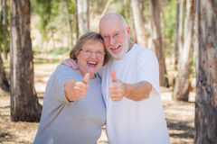 Happy Senior Couple With Thumbs Up Stock Image