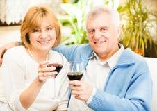 Happy senior couple stock photos