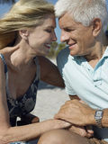Happy Senior Couple On Tropical Beach Stock Photo
