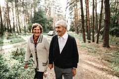 Elderly loving couple royalty free stock image