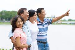 Happy senior couples Royalty Free Stock Photos