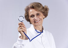 Happy senior doctor Stock Images