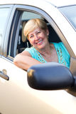 Happy senior driver Royalty Free Stock Photography