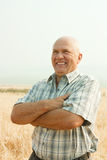 Happy senior farmer Royalty Free Stock Images