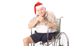 Happy senior holiday. Isolated on a white background Stock Photography