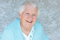 Happy senior lady smiling Stock Images