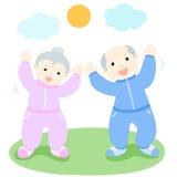 Happy senior love to exercise  Stock Photo