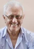 Happy senior man. Close up photo of happy senior man stock image