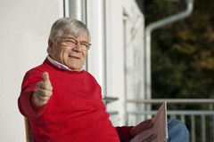Happy senior man Royalty Free Stock Images
