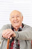 Happy senior man with cane Royalty Free Stock Photo