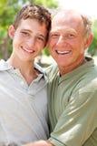 Happy senior man with grandson Royalty Free Stock Photo