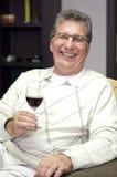 Happy senior man indoor Royalty Free Stock Image