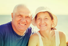 Happy senior man and mature woman Royalty Free Stock Images