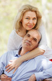 Happy senior man and mature woman Royalty Free Stock Photo