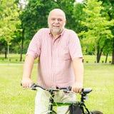 Happy senior man outdoor Stock Images