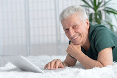 Happy senior man Stock Images