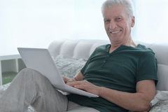 Happy senior man Stock Image