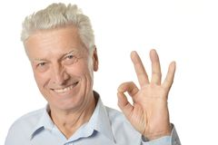 Happy senior man Stock Photos