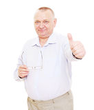 Happy senior man showing thumb up Royalty Free Stock Photography