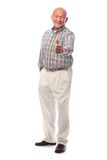 Happy senior man shows thumbs up Royalty Free Stock Images