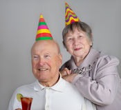 Happy senior man and  woman Stock Photo