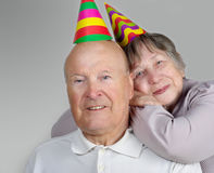 happy senior man and  woman Royalty Free Stock Photos