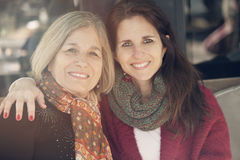 Happy senior mother and daugther Royalty Free Stock Image
