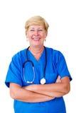 Happy senior nurse Royalty Free Stock Photography