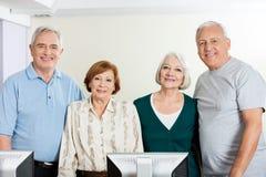 Happy Senior People In Computer Class Stock Photo