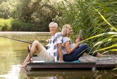 Happy senior people Stock Images