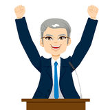 Happy Senior Politician Man Stock Images
